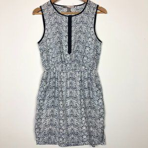 Forever 21 Navy Blue Sleeveless Swirl Dress Small